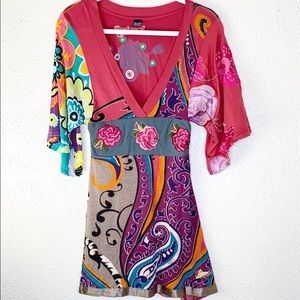 Desigual embroidered mini dress